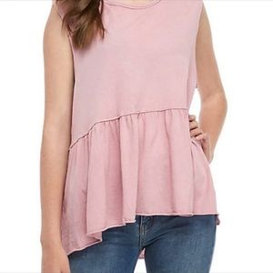 "NWT Free People ""Anytime"" Mauve Pink Tunic Top L"